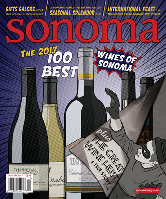 Sonoma Magazine Cover Nov/Dec 2017