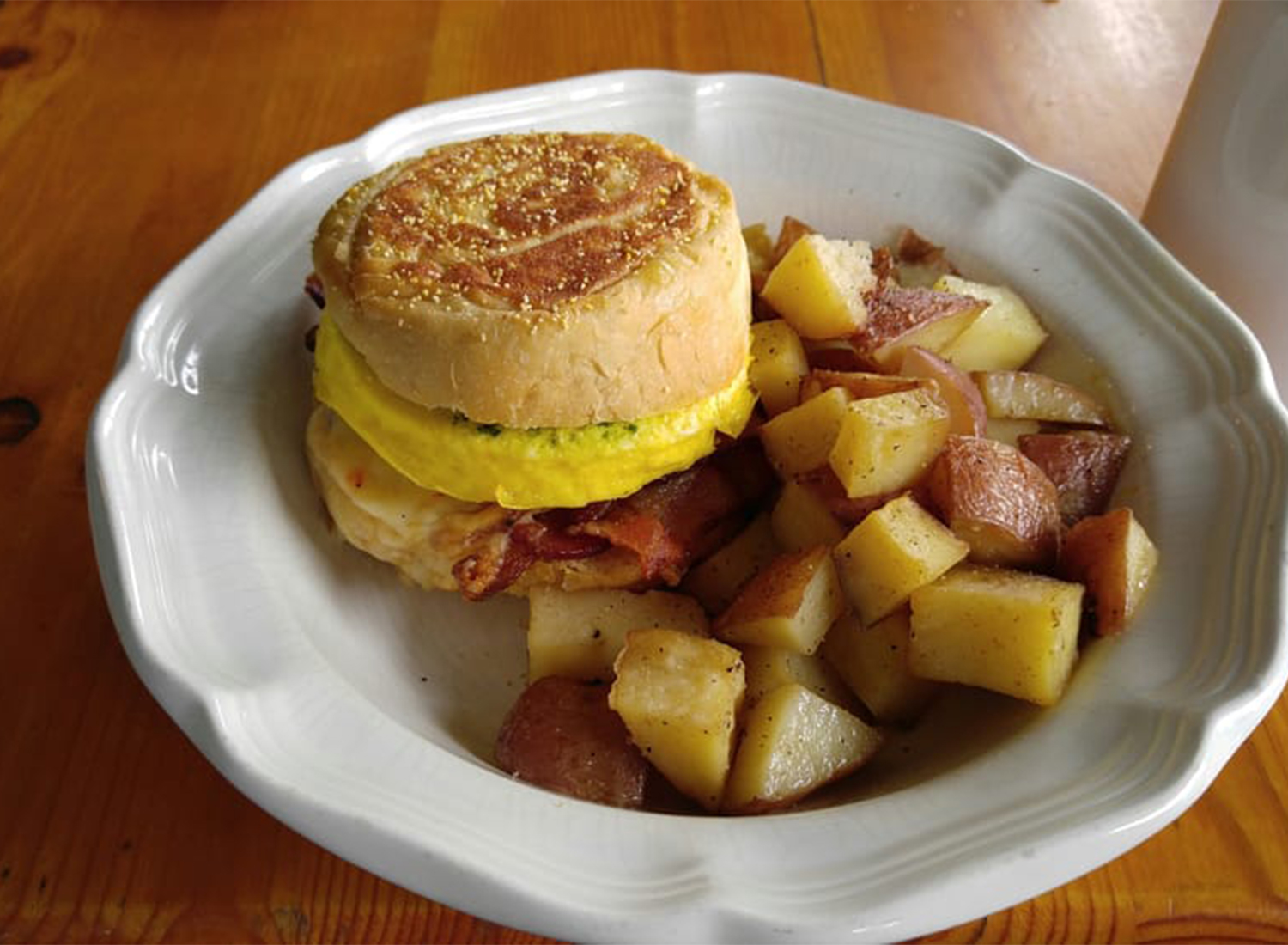 Breakfast muffin from Criminal Baking Co. in Santa Rosa, Courtesy YELP