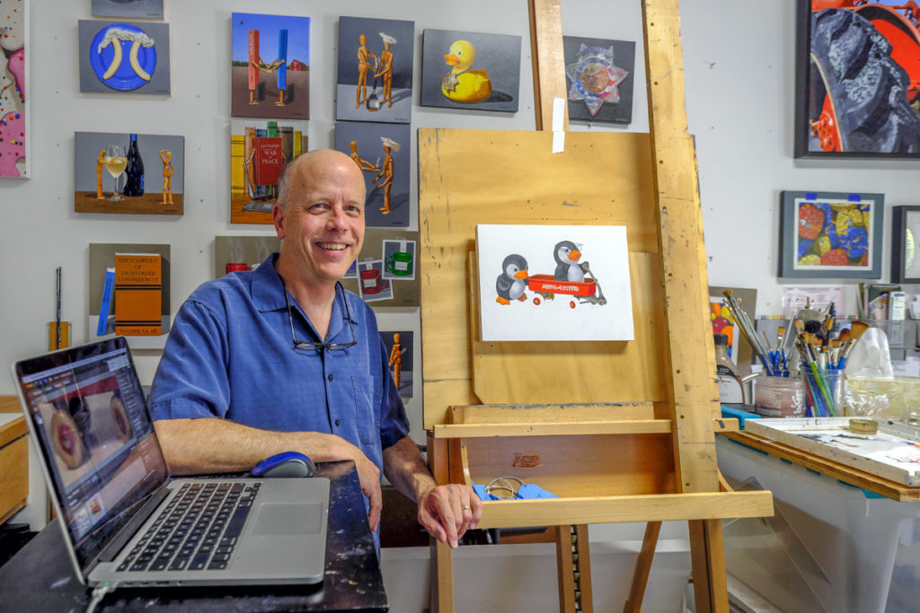 Retired Police Lieutenant Answers Call to Help Fire Victims from His Art Studio