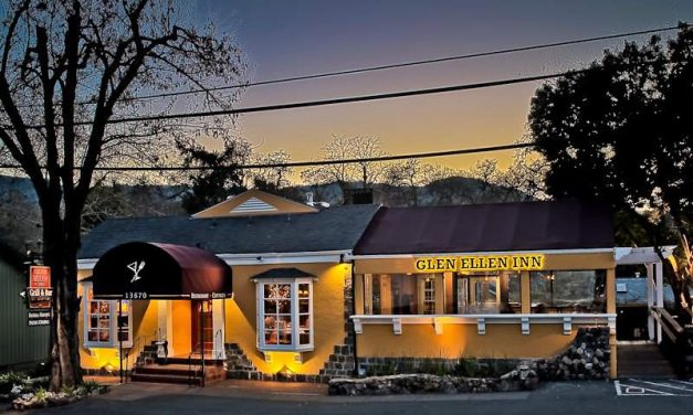 Glen Ellen Inn Oyster Grill & Martini Bar Stands After Fires