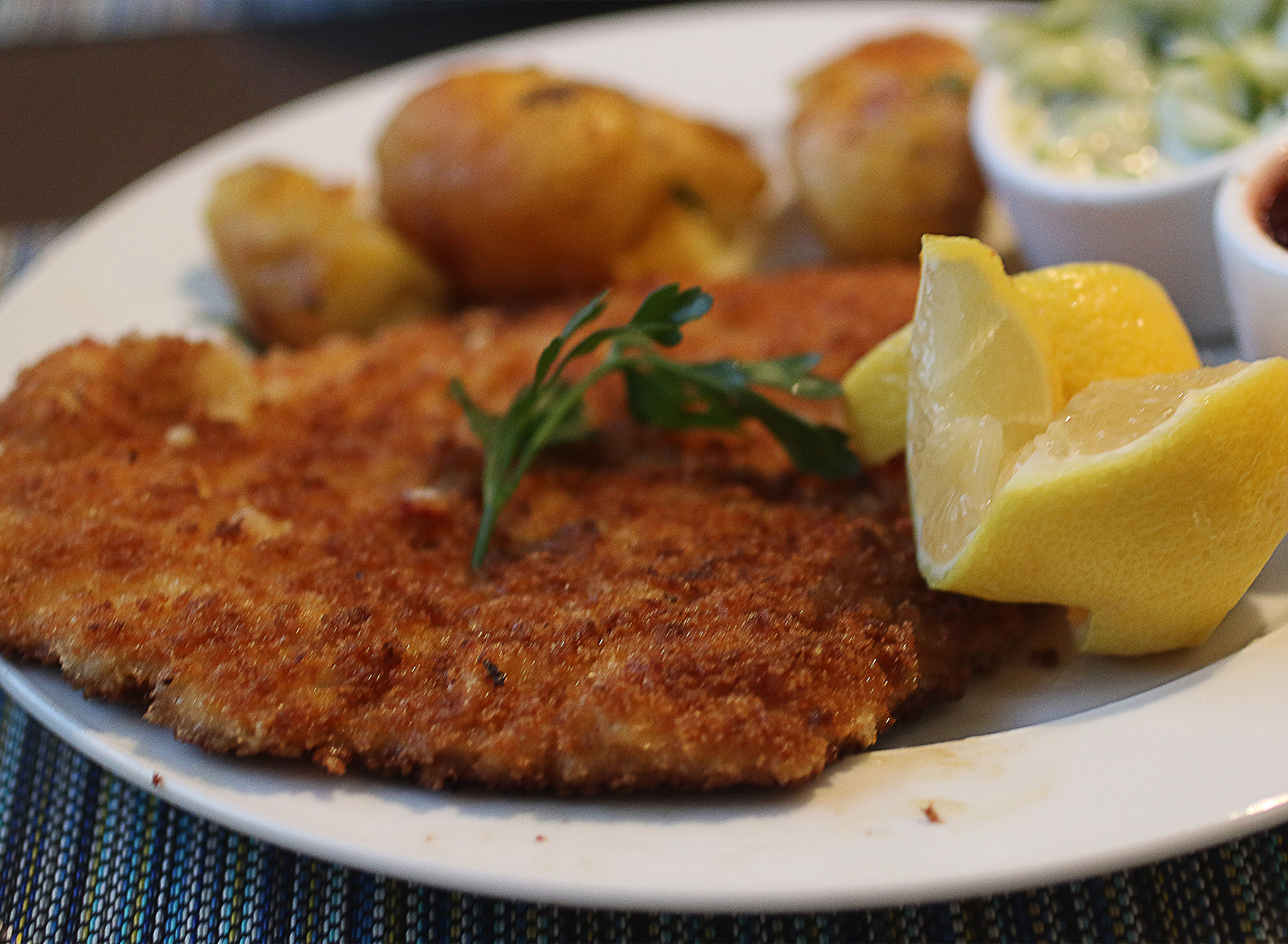 Wiener schnitzle at Tisza Bistro in Windsor. Heather Irwin/PD