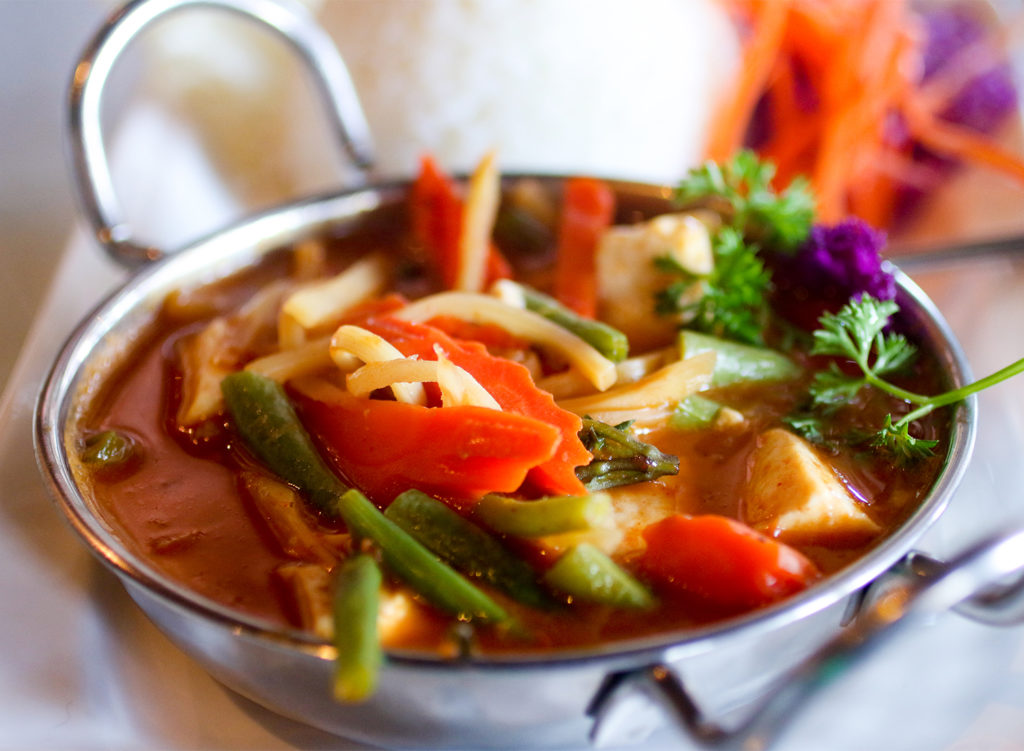 Red curry at Spring Thai restaurant in Cotati. Heather Irwin/PD