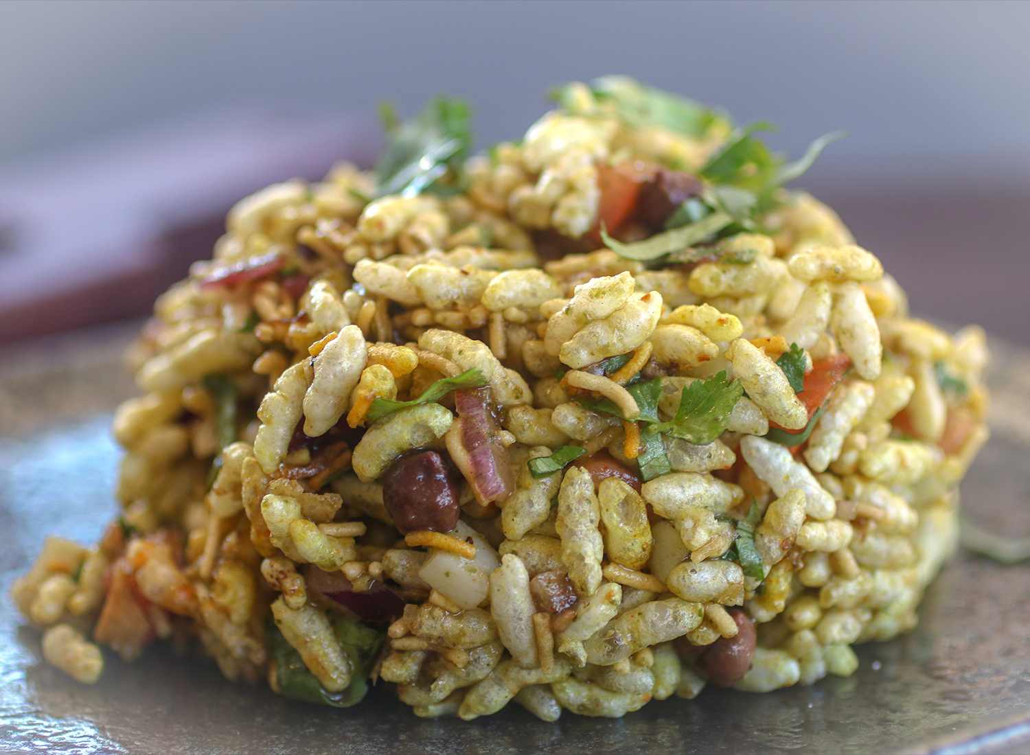 Bhelpuri from the Indian Street Food menu at Bibi's Burger Bar in Santa Rosa. Heather Irwin/PD