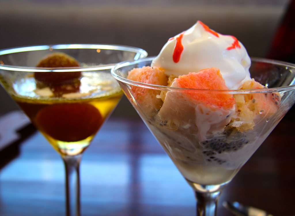 Falooda Kulfi and Gulab Jamun from the Indian Street Food menu at Bibi's Burger Bar in Santa Rosa. Heather Irwin/PD