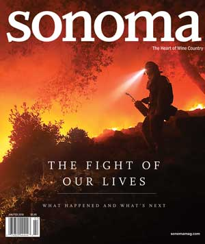 Sonoma Magazine Cover Jan/Feb 2018