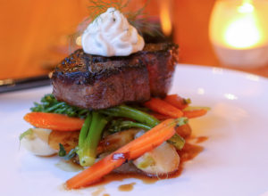 Petite filet steak at Salt and Stone Restaurant in Sonoma County, Kenwood. Heather Irwin/PD