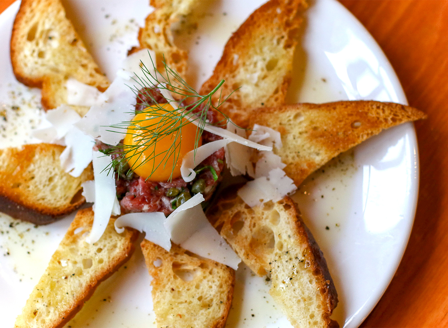 Steak tartare at Salt and Stone Restaurant in Sonoma County, Kenwood. Heather Irwin/PD