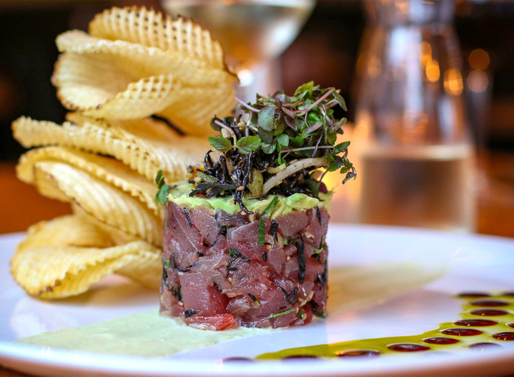 Tuna tartare at Salt and Stone Restaurant in Sonoma County, Kenwood. Heather Irwin/PD