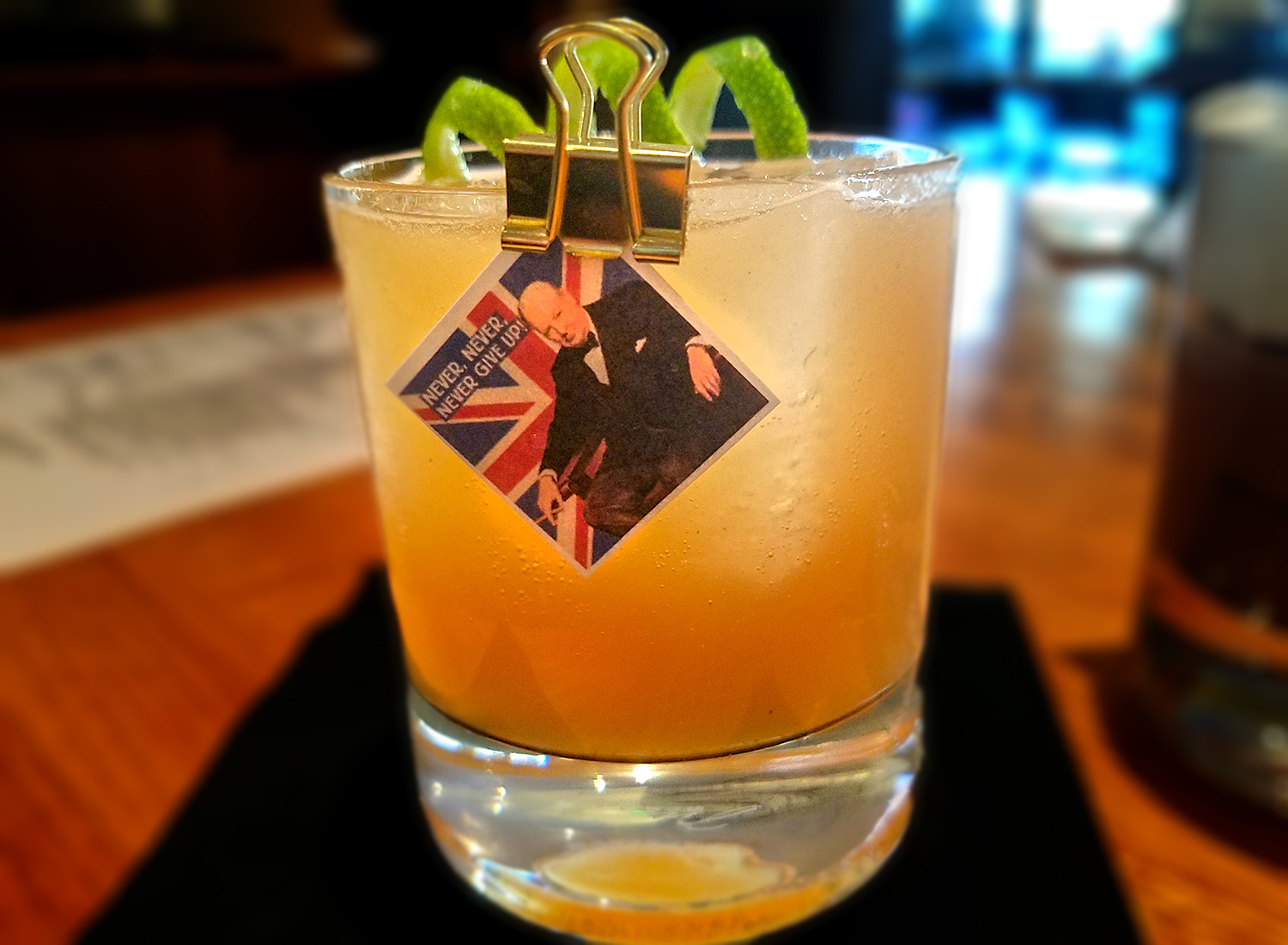 The Churchill cocktail made with tequila and mezcal is a smoky ode to the British Bulldog at Perch and Plow in Santa Rosa. Heather Irwin/PD