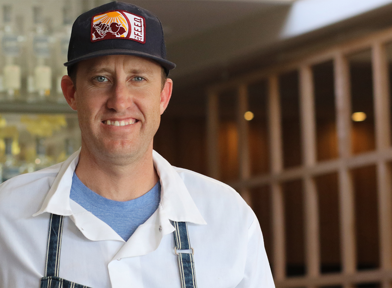 Chef Mike Mullins at Perch and Plow restaurant in Santa Rosa. Heather Irwin/PD