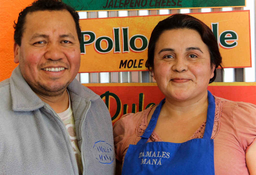 Manuel and Lucina Morales of Tamales Mana in Santa Rosa. Heather Irwin/PD