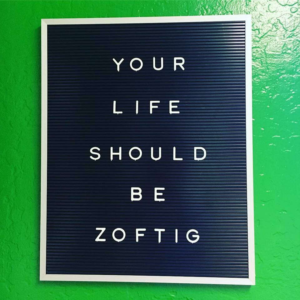 A sign at Zoftig in Santa Rosa. Facebook