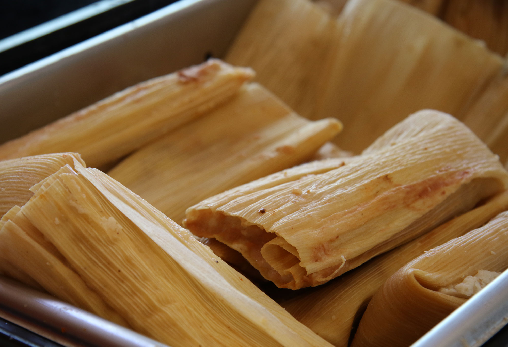Bean and cheese tamales at Tamales Mana. Heather Irwin/PD