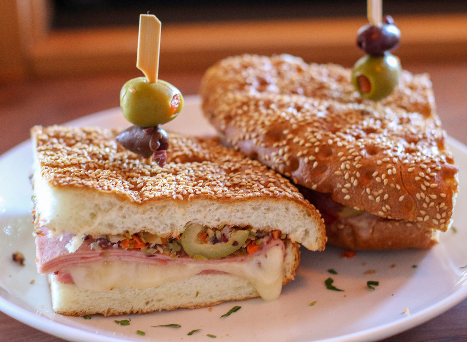 Muffaletta sandwich at the Parish Cafe in Santa Rosa. Heather Irwin/PD