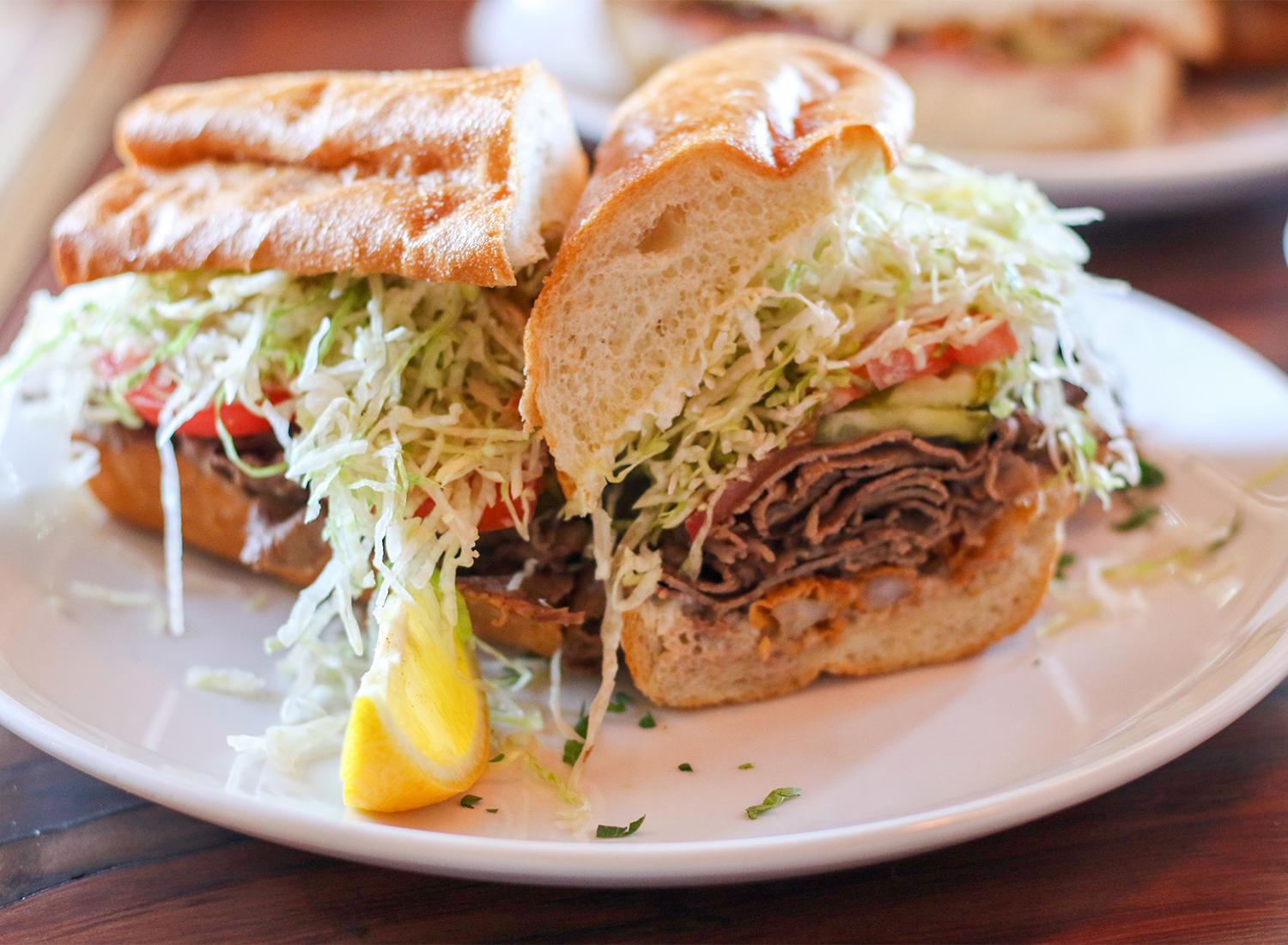 Surf and turf po-boy at Parish Cafe in Santa Rosa. Heather irwin/PD