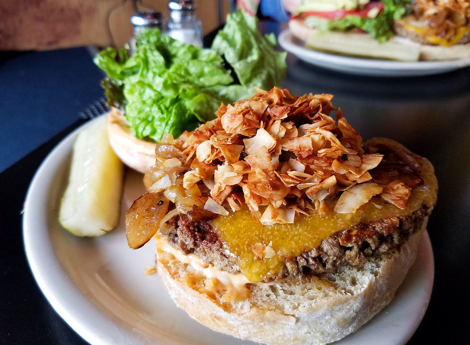 The Impossible Burger at Gaia's Garden in Santa Rosa looks, tastes and eats like a beef burger. Mostly. Heather Irwin/PD