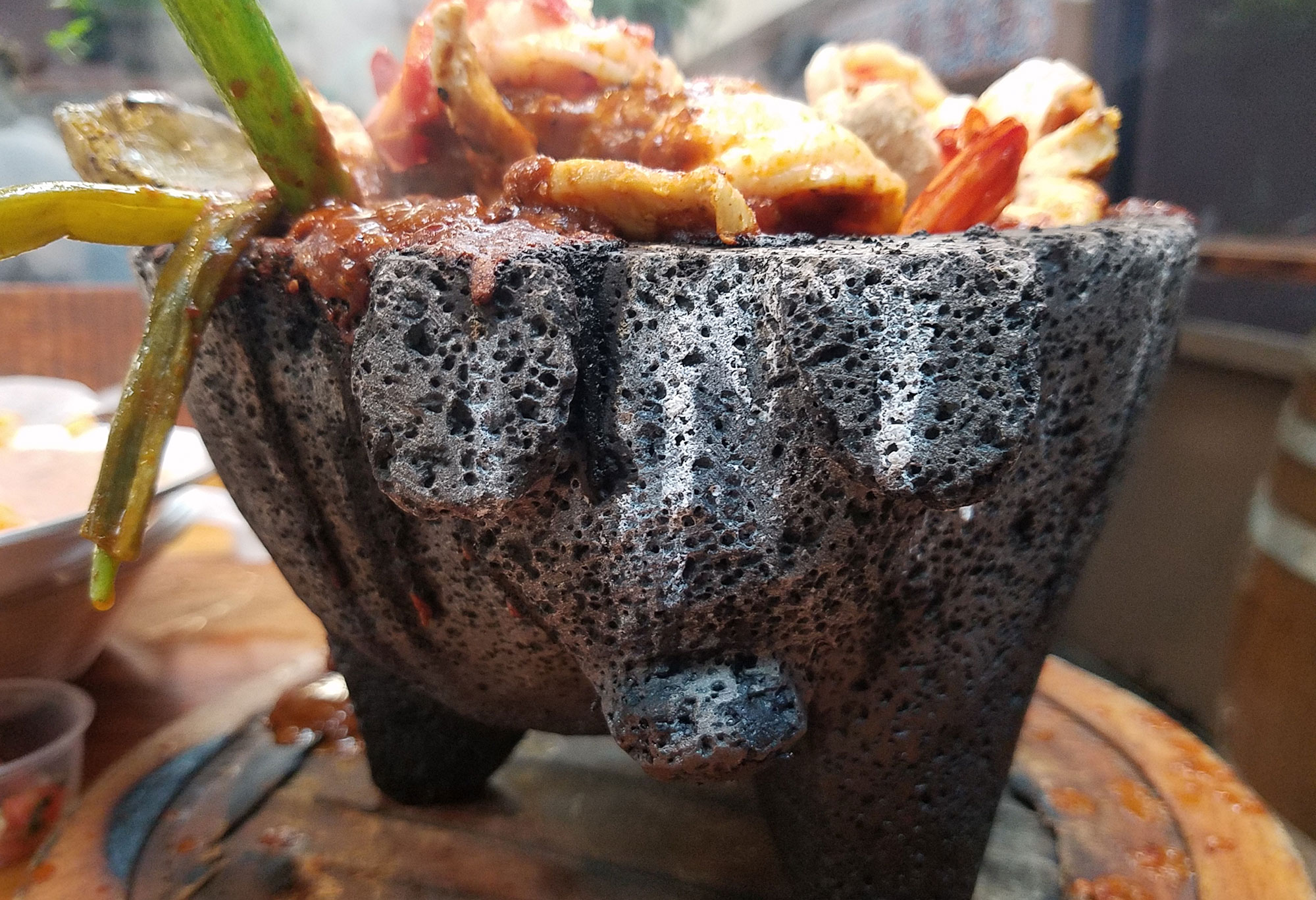 Molcajete Mixto in Santa Rosa. Offbeat eats in Sonoma County. Heather Irwin/PD