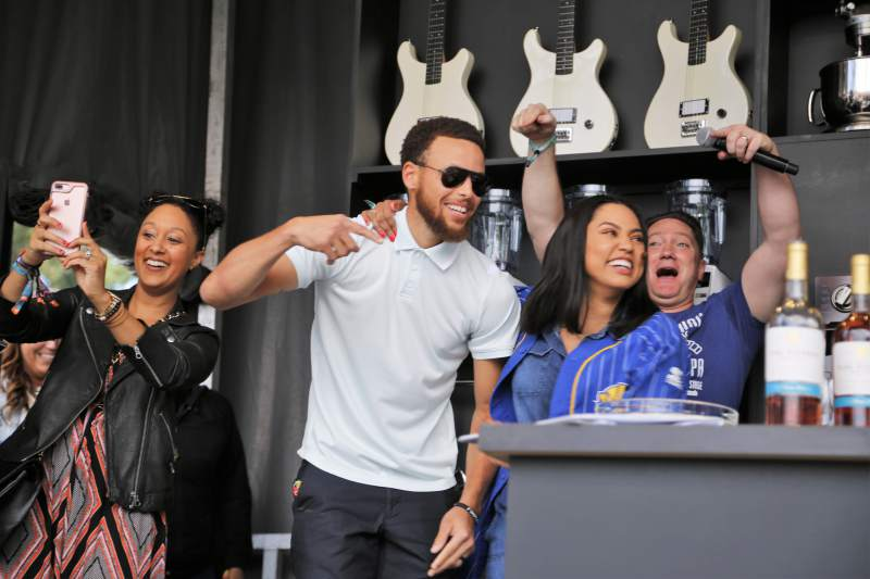 Steph Curry joins Ayesha on the Williams-Sonoma Culinary Stage in 2017 at BottleRock. Will Bucquoy