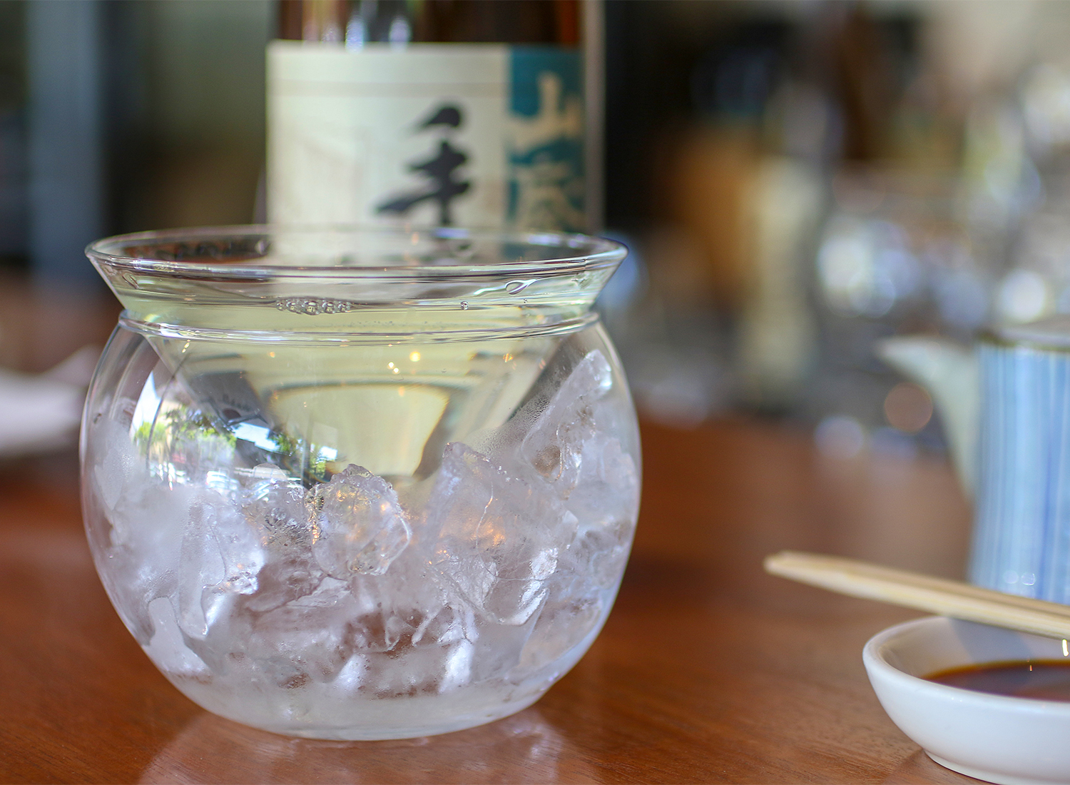 Tedorigawa sake at Sake 107 sushi and sake bar in Petaluma. Heather Irwin/PD