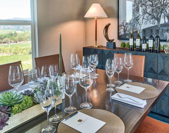 Set table, Signorello Estate Room
