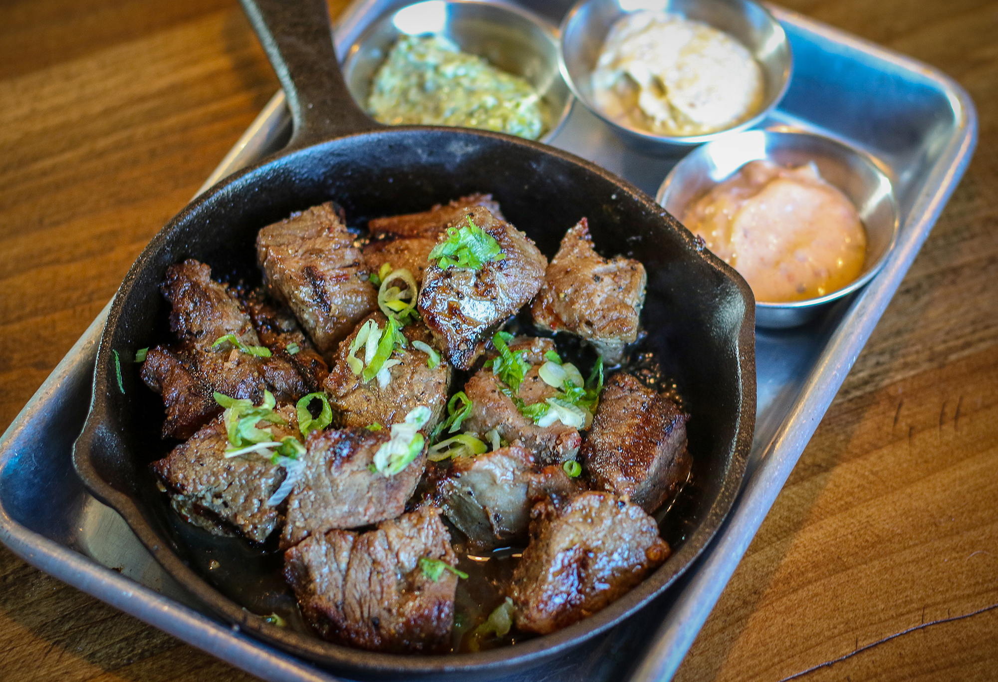 Tri-Tip Bites with chpotle, creamy horseradish and garlic aioli at Tips Roadside in Kenwood. Heather Irwin/PD