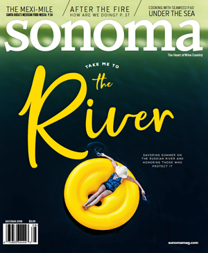 Sonoma Magazine Cover Jul/Aug 2018