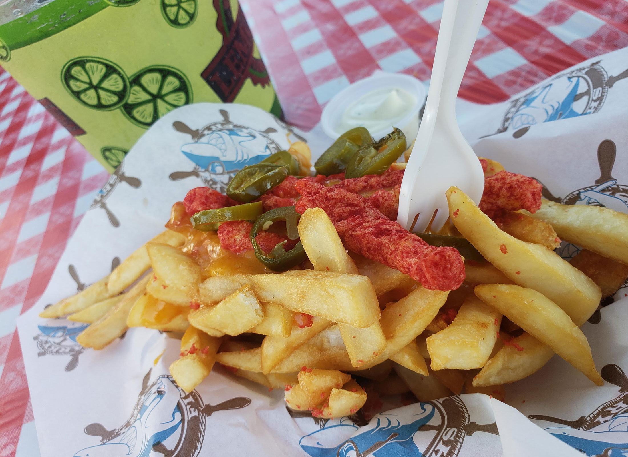 The Flamin' Hot Cheetos Fries at the 2018 Sonoma County Fair Food. Heather Irwin/PD