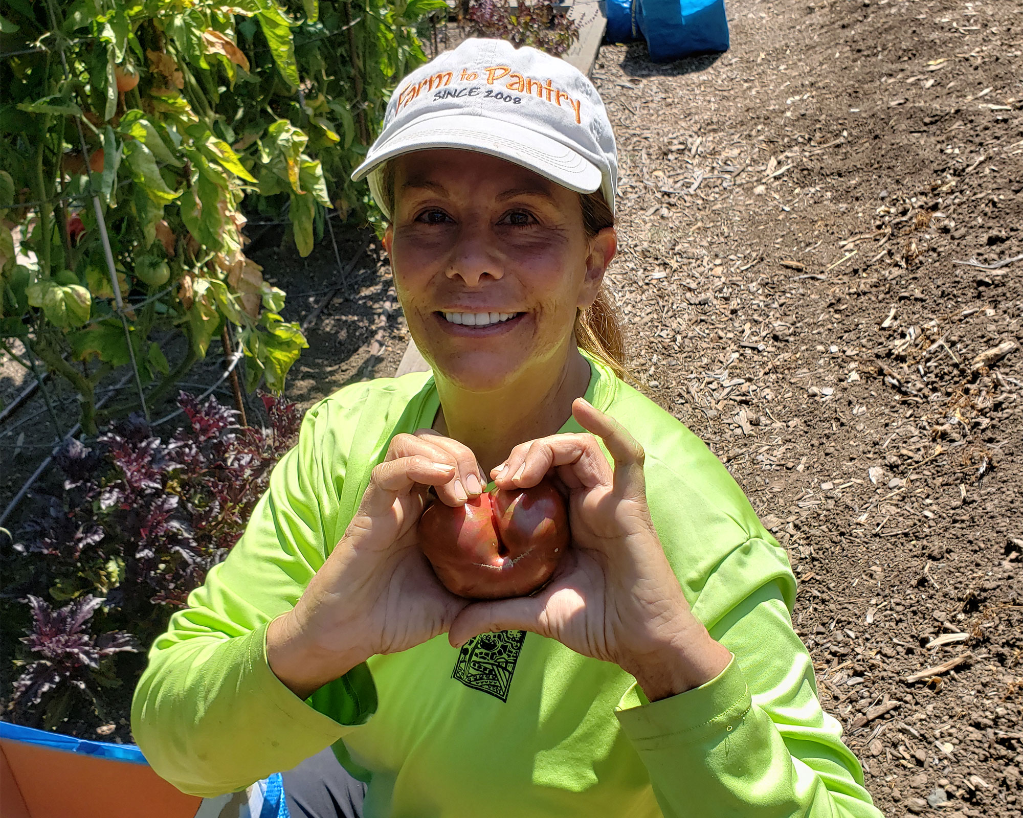 Dani Wilcox from Farm to Pantry team in the Alexander Valley. Heather Irwin/PD
