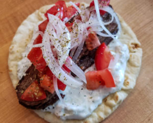 Gyro at Yia Yia - The Grateful Greek in Penngrove. Heather Irwin, PD