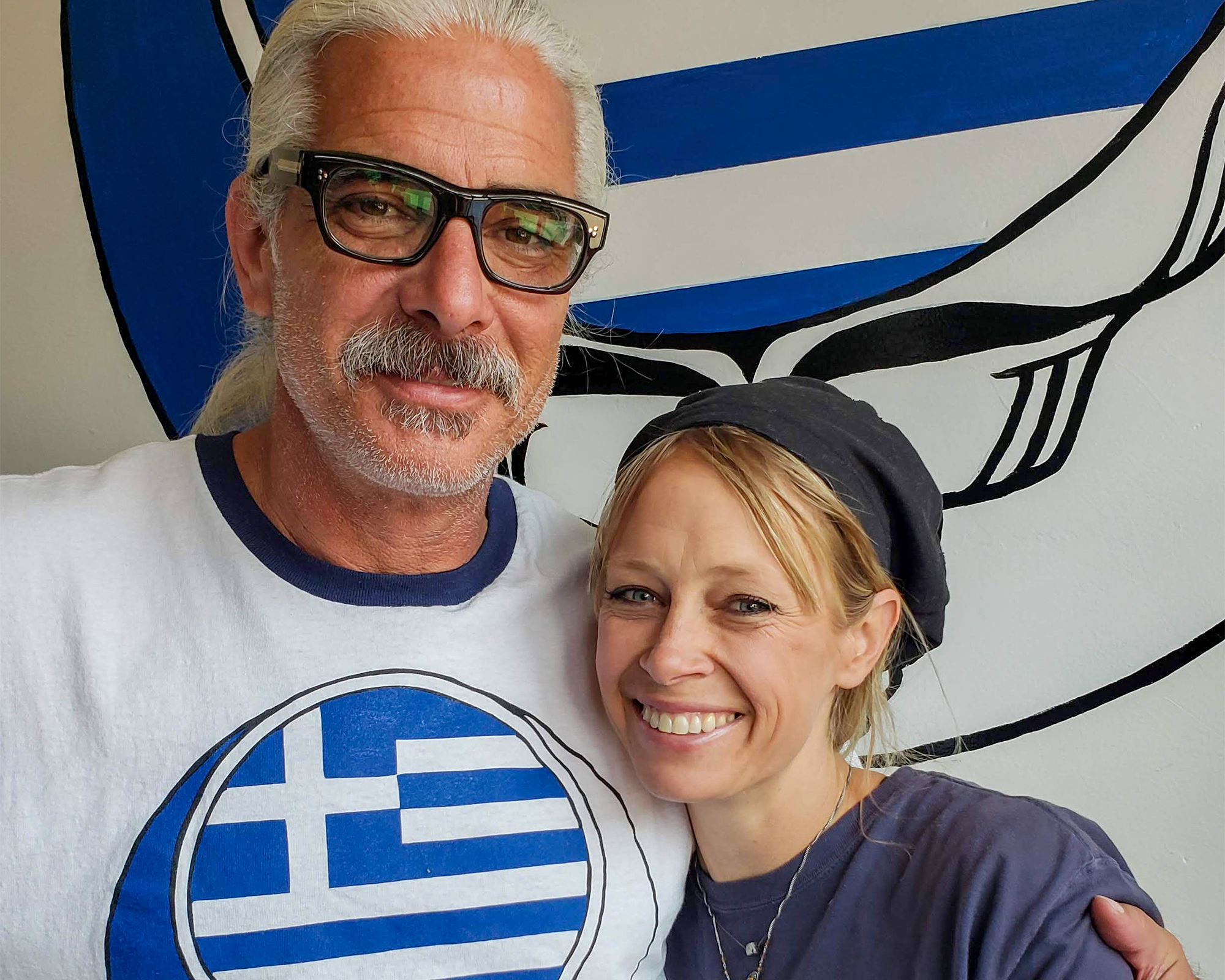 Tom Adams and Thea Rabb, owners of Yia Yia - The Grateful Greek in Penngrove. Heather Irwin, PD