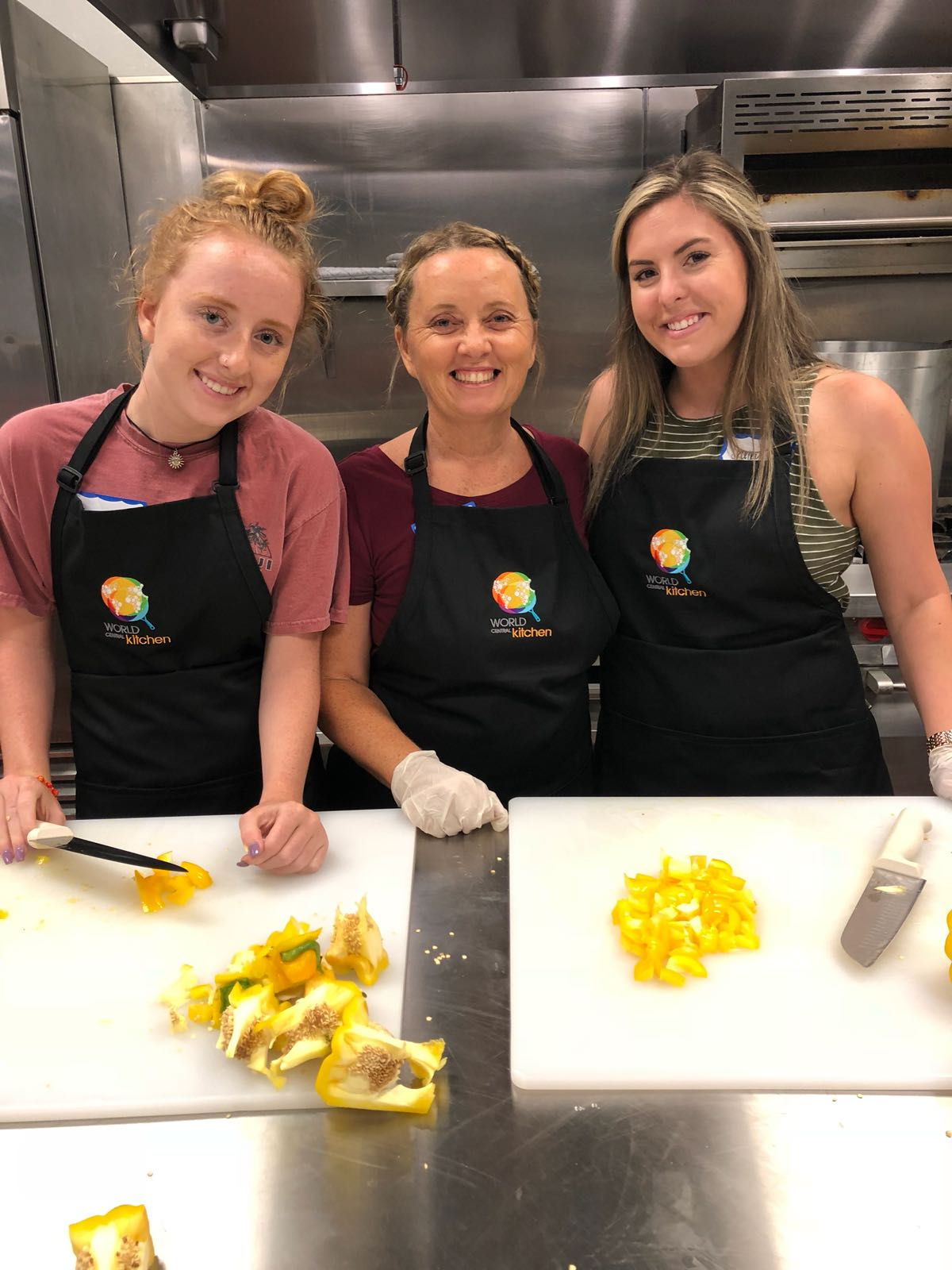 Volunteers with World Central Kitchen