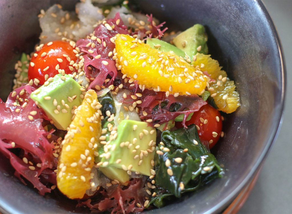 Seaweed salad at Sushi Kosho in Sebastopol. Heather Irwin/PD