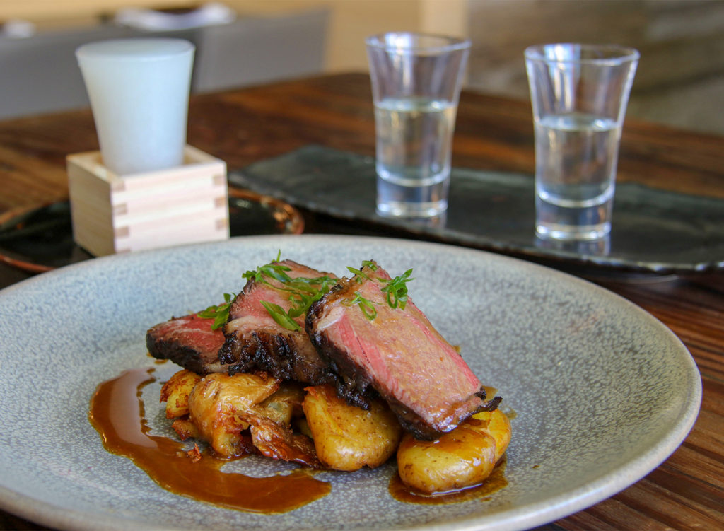 Wagyu short ribs with potatoes and Korean bbq sauce at Sushi Kosho in Sebastopol. Heather Irwin/PD