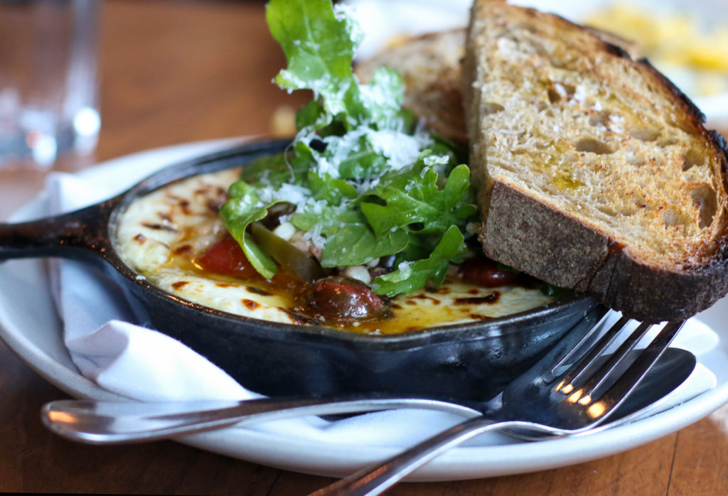 Baked cheese with Revolution Bread at Lowell's in Sebastopol. Heather Irwin/PD