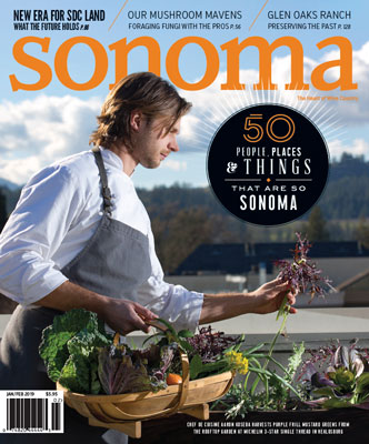 Sonoma Magazine Cover Jan/Feb 2019
