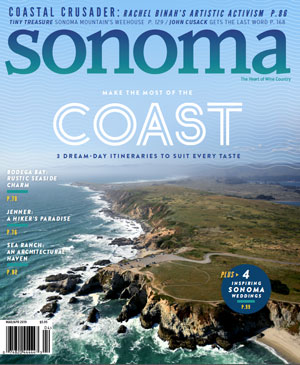 Sonoma Magazine Cover Mar/Apr 2019