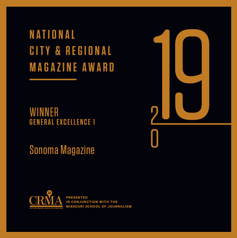Sonoma Magazine Named Best Small City and Regional Magazine in the U.S.
