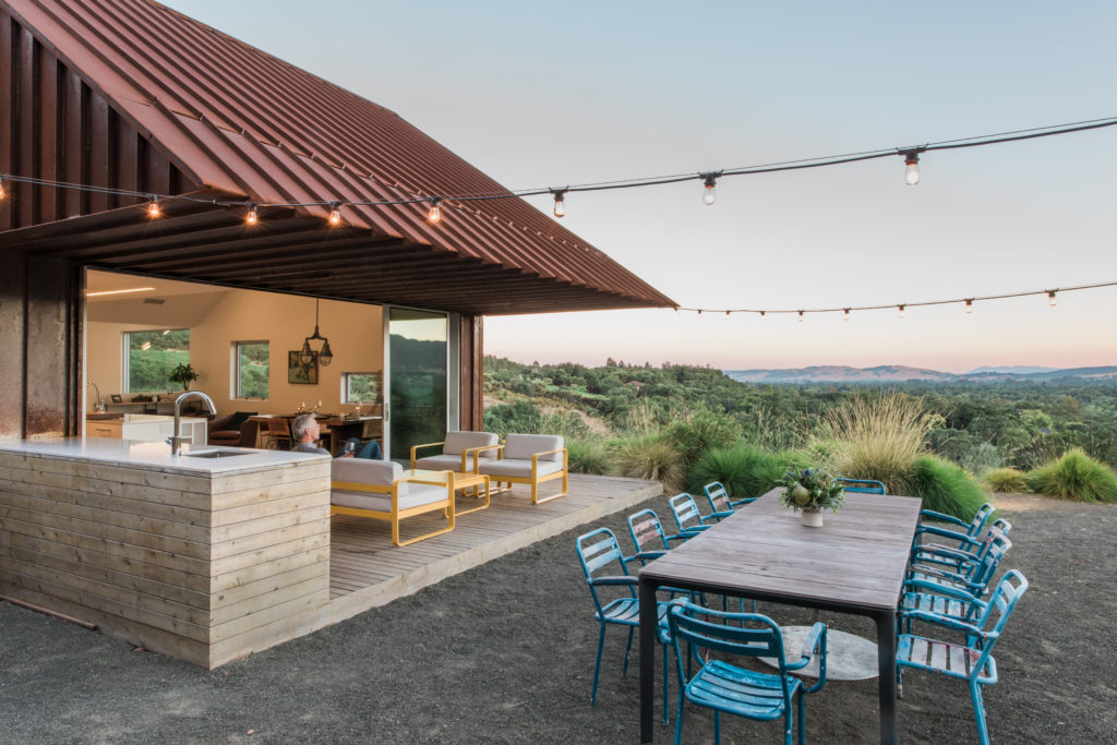 Rugged Hillside Lot Above Sonoma Valley Becomes Dream Home with a View