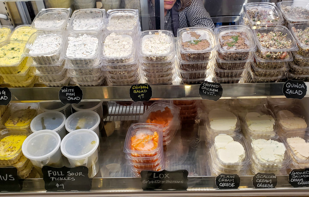 Deli case at Grossman's Noshery and Bar in Santa Rosa. Heather Irwin/PD