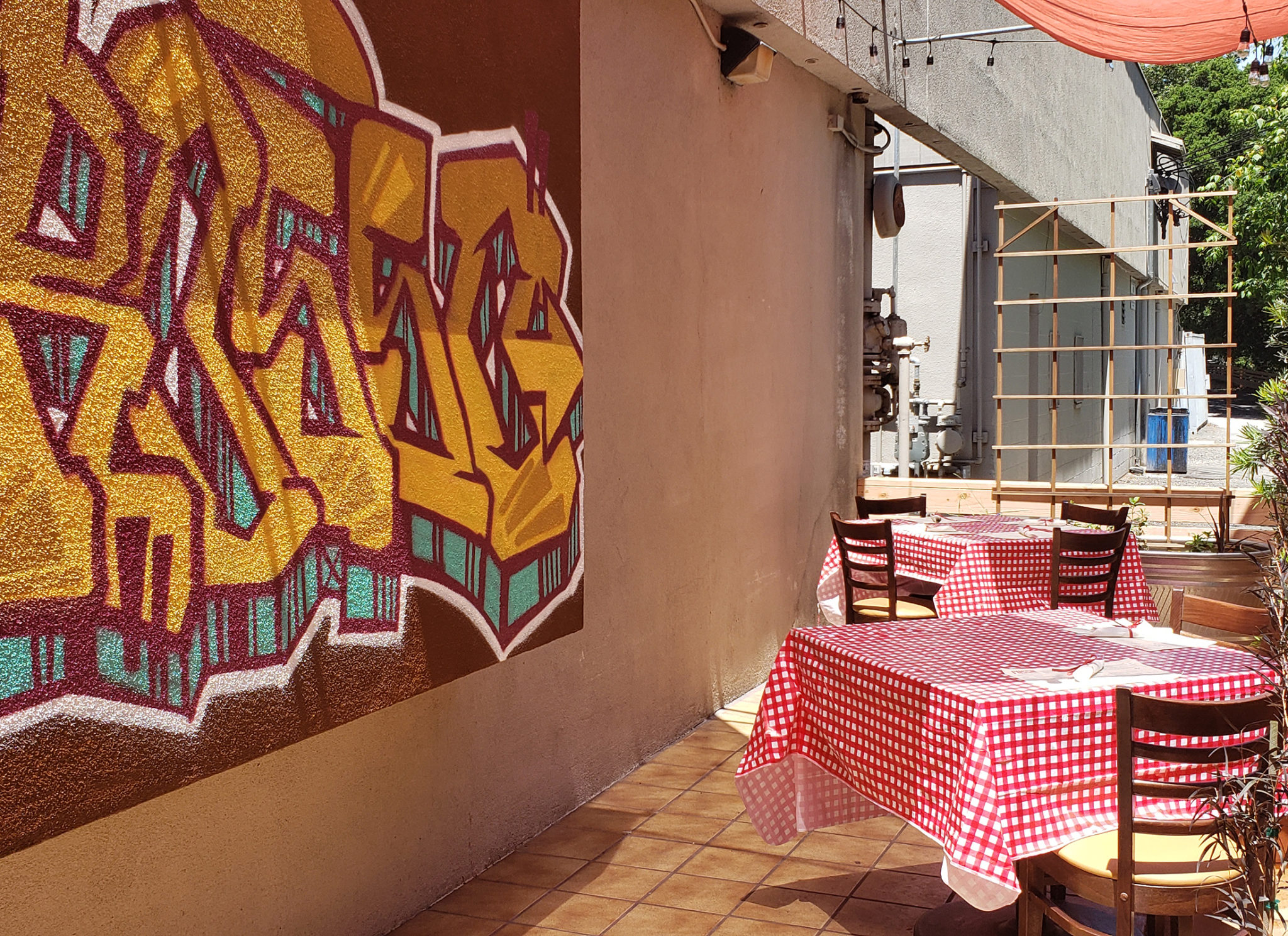 The new back porch at Rosso Pizzeria in Santa Rosa. The restaurant has reopened for patio dining. Heather Irwin/PD
