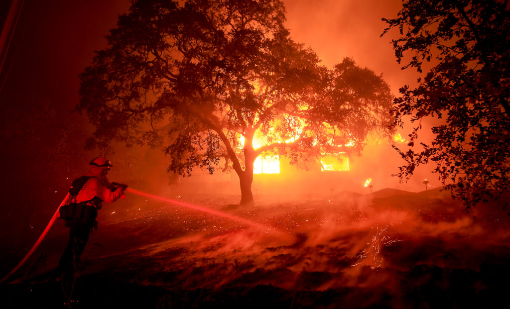 Photos and Videos from Wildfires in Sonoma and Napa