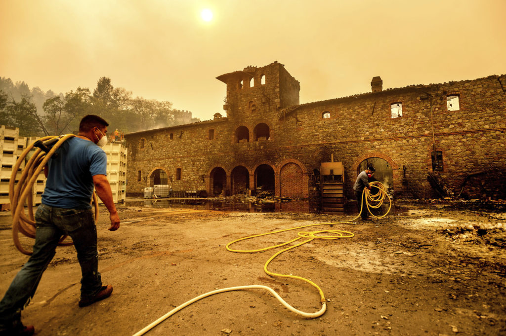 Sonoma and Napa Wineries That Have Been Damaged or Destroyed by the Glass Fire