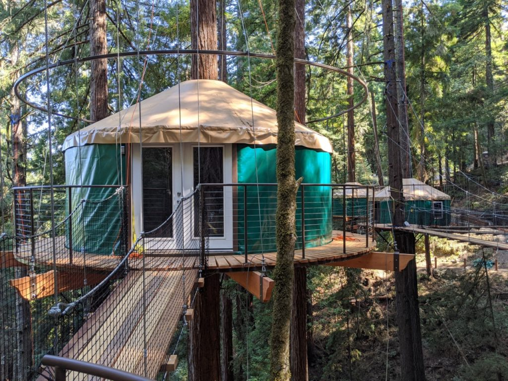 Sleep in a Treehouse, Then Fly Through the Redwoods at Sonoma's New Glamping Spot
